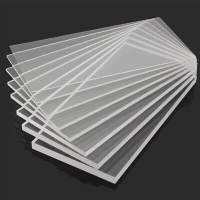 Clear Acrylic Perspex Sheet Cut To Size Plastic Plexiglass Panel Diy 1.5 Cby