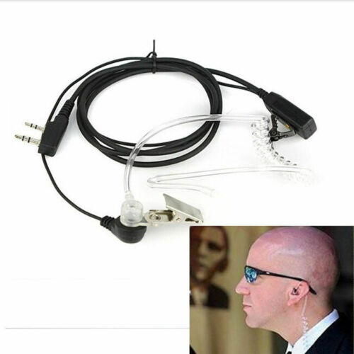 Bodyguard FBI Earpiece Earphone Headset with Mic PTT for Walkie Talkie Earbud US