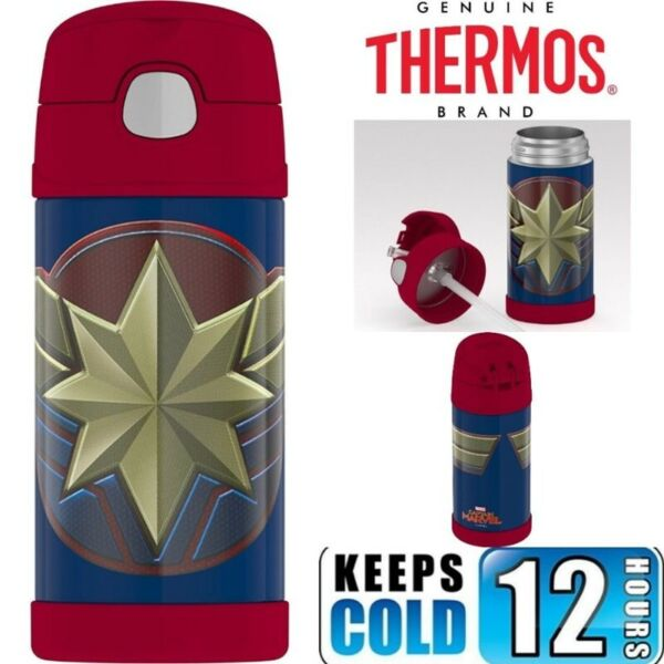 BN: Thermos Funtainer 12 Ounce Water Bottle, Captain Marvel