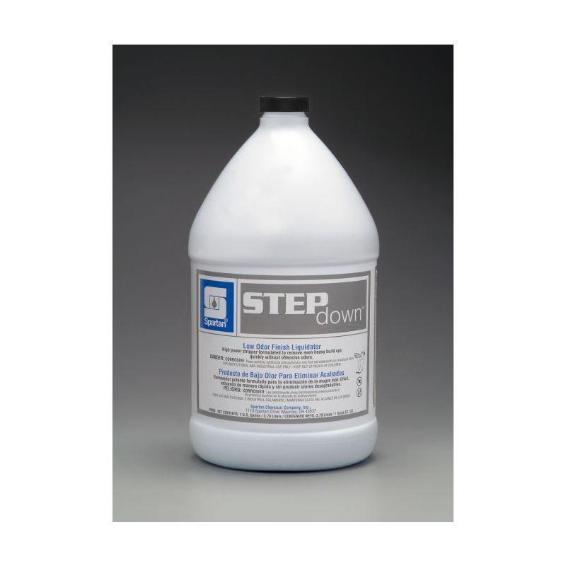Spartan Step Down Low Odor Liquidator Floor Stripper, Gallons, 4/Case