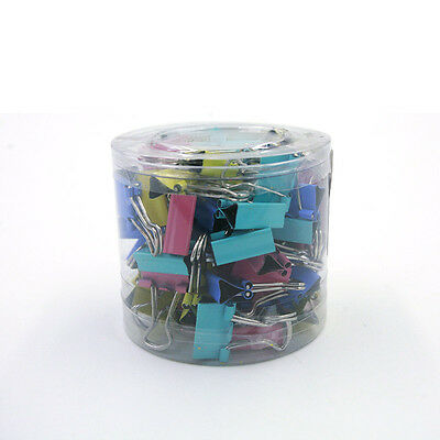 60x Metal Binder Clips For File Paper Notebook Organizer School Office Suppqy