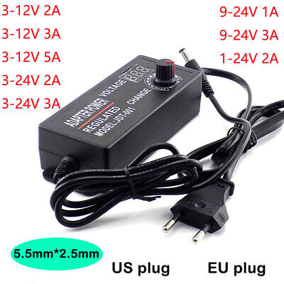 3-12v 3-24v 9-24v 1-24v Voltage Variable Adjustable Acdc Power Supply Adapter