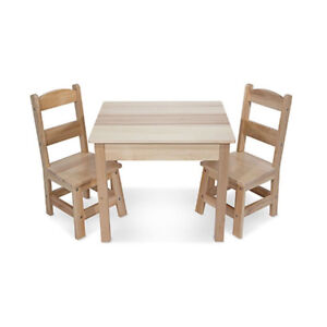 *Brand New In Box* Melissa & Doug Solid Wood Table & Chairs