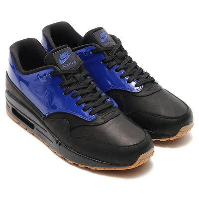 NIKE AIR MAX 1 VT QS..BLACK/ BLUE..SIZE MEN 8.5 / OR WOMEN 10..FAST