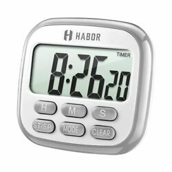Large LCD Display Digital Kitchen 12 Hour Cook Timer Count-Down Up Clock Alarms