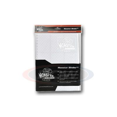 9 Pocket Monster Protector Binder   Holofoil White With White Pages