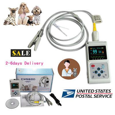 Veterinary Spo2 Pulse Oximeter Heart Rate Monitor Vet Eartongue Probe Software