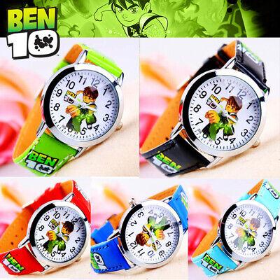 Ben 10 ten  Kids Quartz Watch Cartoon Leather Quartz Kids Watches - Best Price