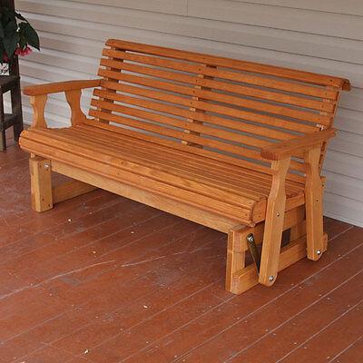 Amish Heavy Duty 800 Lb Roll Back Pressure Treated Porch (Back Porch Glider Bench)