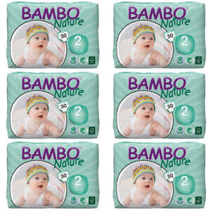 Bambo Nature Baby Diapers - Size 2 (7-13 lbs), 180 Diapers