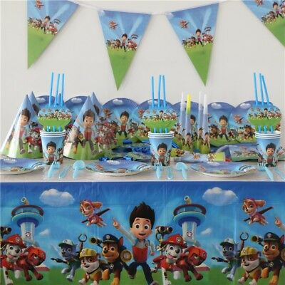 23 Style Paw Patrol Plate Flag Cup Party Tableware Birthday Decorations Supplies