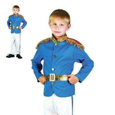Jungen Prince Charming Kostüm Kostüm Kinder Märchen Königsblau - Prince Junge Kostüm