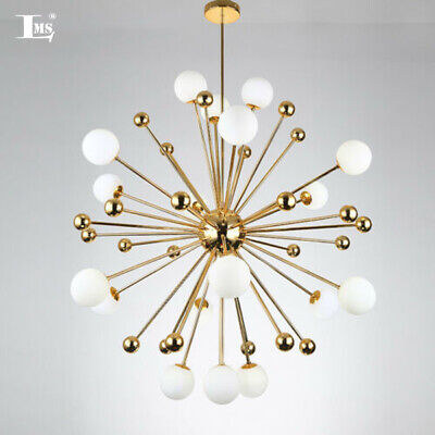 Metal Sputnik Chandelier Glass Pendant Lamp Firework Ceiling Fixture use G9 LED Cone Glass Pendant