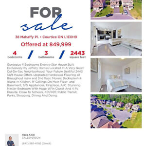 House for sale in courtice