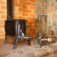 Cast Iron Logwood Wood Stove up to 75k BTUs (Clearance)