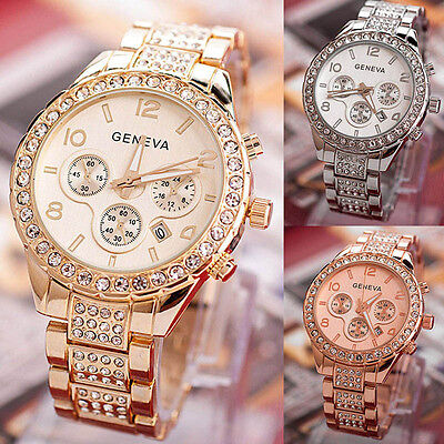 $5.39 - Women Fashion Luxury Crystal Quartz Watch Ladies Party Dress Wirst Watch