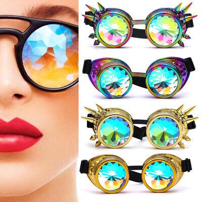 Festival Rave Kaleidoscope Rainbow Round Glasses Prism Diffraction Crystal (Kaleidoscope Lens)