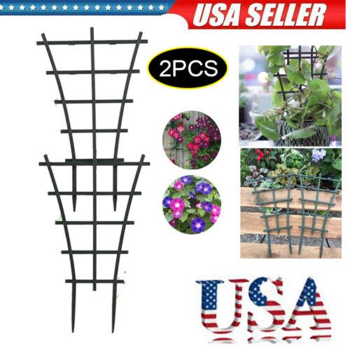 2pcs Plant Climbing Trellis Garden Trellises Vine Rack Support Plastic Reusable