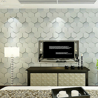 Geometric 3d effect leather texture grey hexagon pattern for 3d effect wallpaper for home