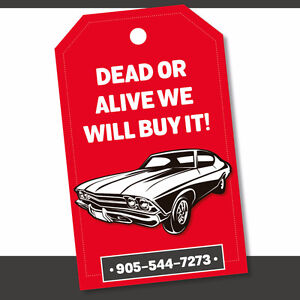 DEAD OR ALIVE, WE WILL BUY IT! —UP TO $1000 CASH!
