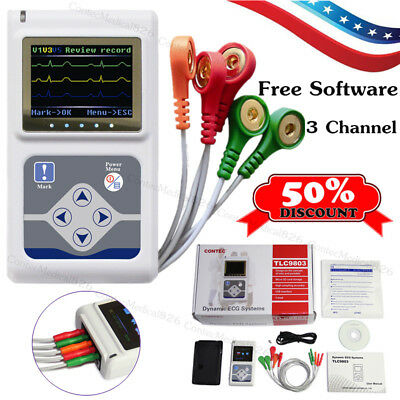 3 Channel Ecg Holter 24 Hours Dynamic Ekg Holter Portable Ecg Monitorsoftware