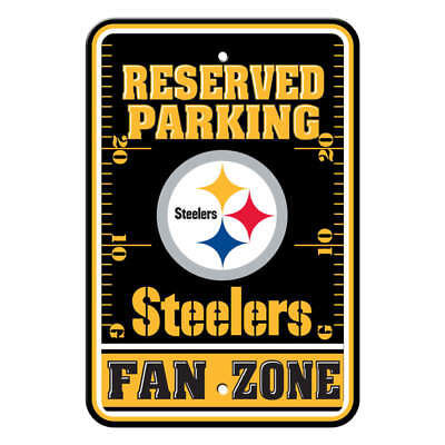 Parking Sign - NFL Pittsburgh Steelers. Plastic Fan Zone Parking Sign (Pittsburgh Steelers Zone Sign)