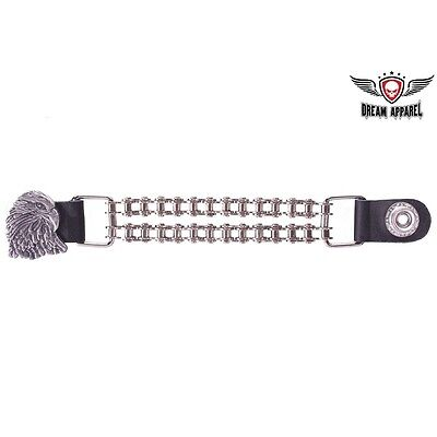 Eagle Vest Extender with Motorcycle Chain - free shipping