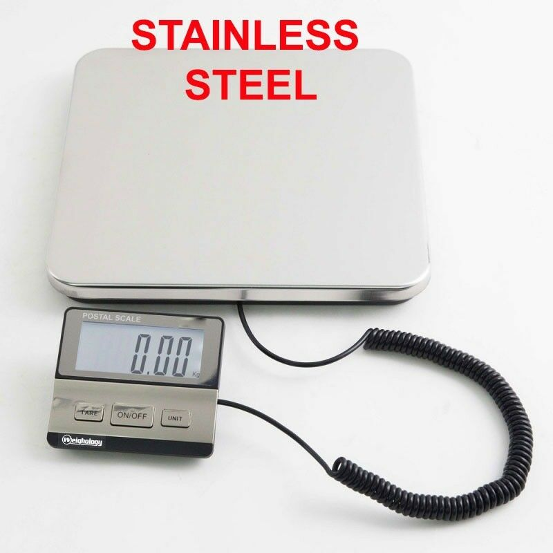 HEAVY DUTY DIGITAL SHIPPING POSTAL PARCEL SCALE 440 LBS CAPACITY STAINLESS STEEL