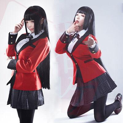 Anime Kakegurui Yumeko Jabami School Uniforms Suit Cosplay Costumes Full Set - Full Suit Costumes