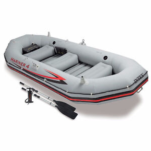 Intex Mariner 4, 4-Person Inflatable Boat Set with Aluminum Oars