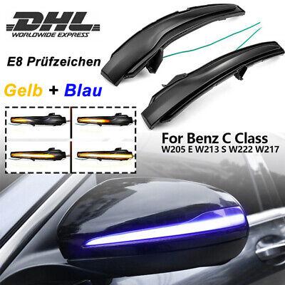 2x Dynamischer LED Spiegelblinker Blinker Für Mercedes W205 W213 W222 GLC C253