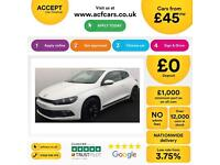 VOLKSWAGEN SCIROCCO 2.0 TDI 140/170 Coupe 1.4 2.0 TSI RLINE GT FROM £45 PER WEEK
