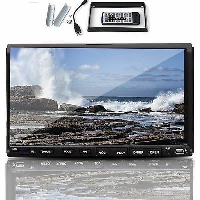 "Double 2 Din 7"" Inch Car DVD CD MP3 Player Touch Screen In Dash Stereo Radio HD on Rummage"
