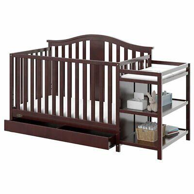 Graco Solano 3 Piece Convertible Crib and Changer Set in Espresso