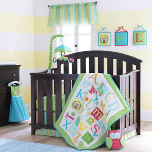 BABY Boy CRIB BEDDINGS SET Laura Ashley 4pc retails for $149.99