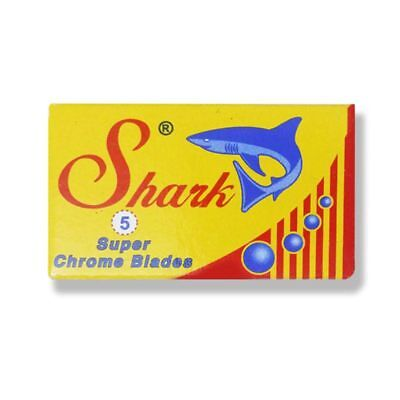 (SHARK Super CHROME | Double Edge Razor Blades |  Premium Safety DE)