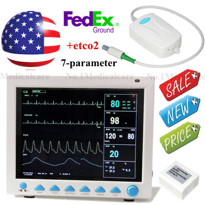 Fda Cms8000 Capnograph Vital Signs Icu Ccu Multiparameter Patient Monitorco2us