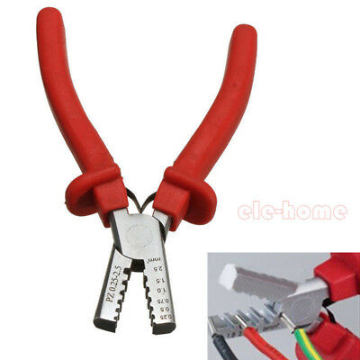 Mini Ferrule Tool Crimper Plier For Crimping Cable End-sleeve 0.25-2.5mm Set Eh