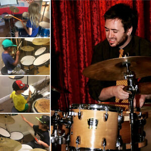 In home Drum Lessons:  Learn the drums and have fun doing it!