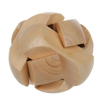 Children Brain Training Toy Wooden Football Kongming Lock Puzzle Z1V4 for sale  Shipping to Canada