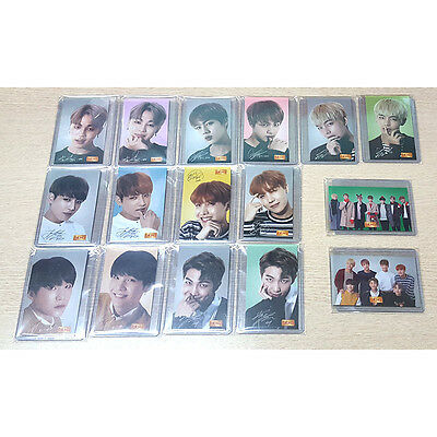 BTS BBQ Official PhotoCard Bangtan Boys Photo Card Full Set 16pcs K-POP  Korea