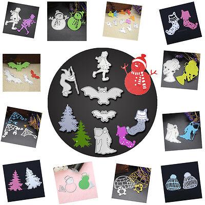 Halloween Weihnachten Stencil Cutting Dies DIY Scrapbooking Karte Stanzschablone ()