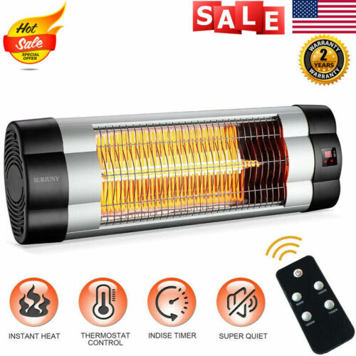 Electric Patio Heater Outdoor Wall-Mounted Patio Infrared He