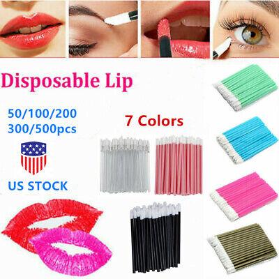 Disposable Lip Brush Gloss Lipstick Multi-color Wands Applicator Makeup Tool Lip Gloss Applicator