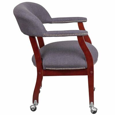 Flash Furniture Vinyl Guest Chair In Gray