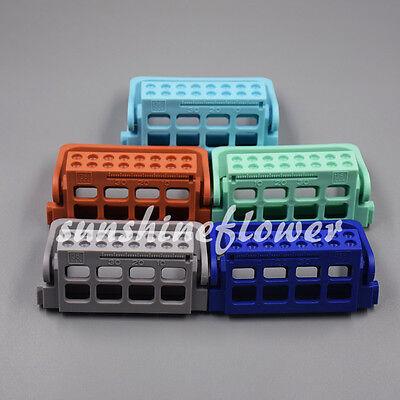 1x Autoclavable Plastic Dental Endo Dispenser File Stand Holder Ruler 16 Holes