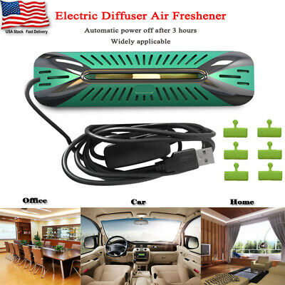 Electric Diffuser Air Freshener Plus 6 Refill Pads For Car Home Office Aroma NEW