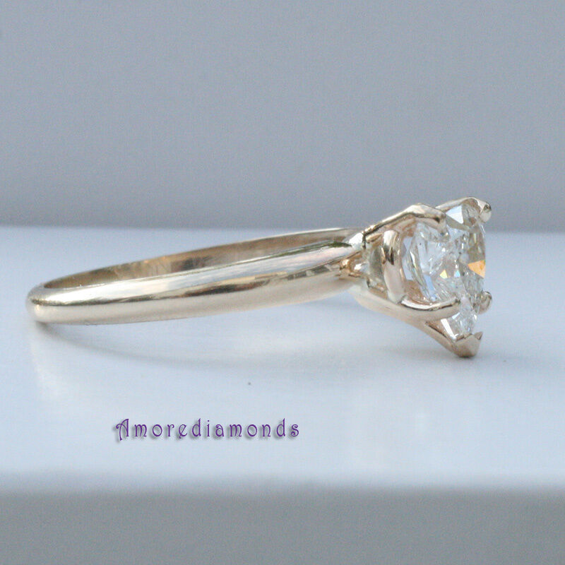 0.8 ct GIA laser inscribed heart shape diamond solitaire engagement ring gold 1