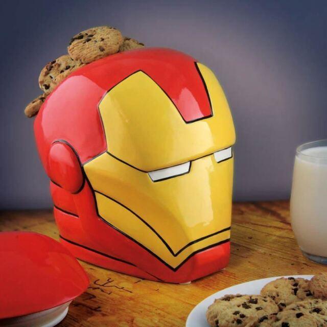 Marvel Avengers Official Iron Man Cookie Jar Ceramic Novelty Biscuit Barrel Tin