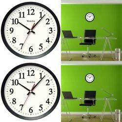 NEW Westclox 14 in. Black Electric Wall Clock Come w/ Glass Lens